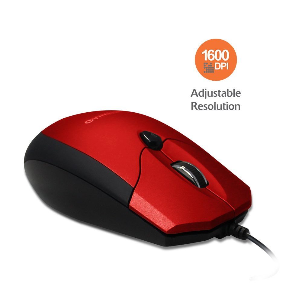 Amkette Weego Pro Optical Mouse Ergonomic Design Adjustable