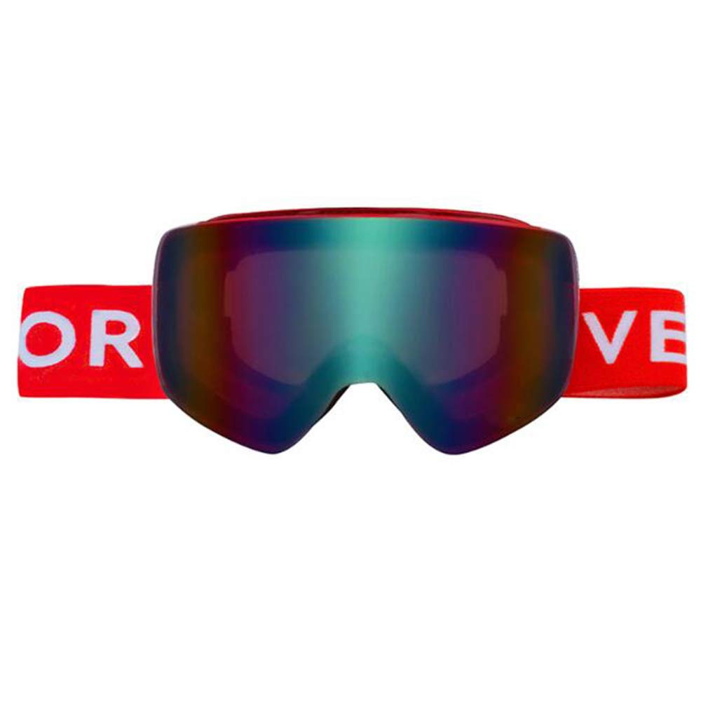 BZO Ski Snowboard Goggles Women Men Skiing Eyewear Mask Uv 400 Snow Protection Over Glasses Adult Double Anti-Fog Cylindrical Red by BZO