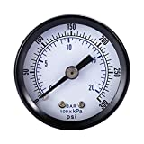 GINZU 1/8'' NPT Air Pressure Gauge Pressure Measuring Instruments Liquid Filled 0-300 PSI Back MT 1.5'' Face 100% NEW