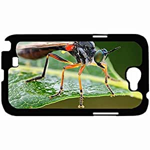New Style Customized Back Cover Case For Samsung Galaxy Note 2 Hardshell Case, Back Cover Design Legged Robberfly Personalized Unique Case For Samsung Note 2