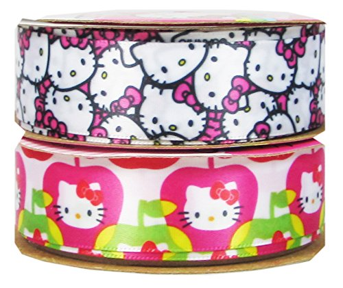 Offray Licensed Ribbon--Hello Kitty, Peanuts, Dr. Seuss, Disney Mickey Minnie Mouse, Frozen... (2x3yd Ribbon - Mouse Mickey Photo Disney Charm