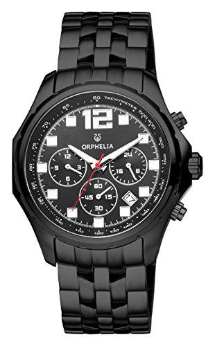 ORPHELIA La Grande Men's Black Stainless steel watch-OR82701