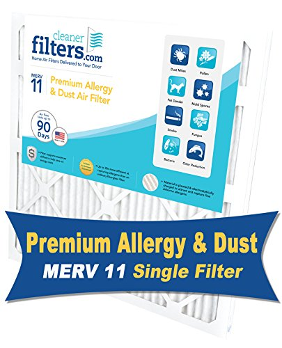 Cleaner Filters 18x24x1 Air Filter, Pleated High Efficiency Allergy Furnace Filters for Home or Office with MERV 11 Rating (1 Pack)