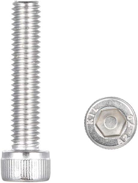 Zwhyo strong Vis assemblage /à t/ête hexagonale /à six pans creux en acier inoxydable M6 DIN912-A2 M6 90