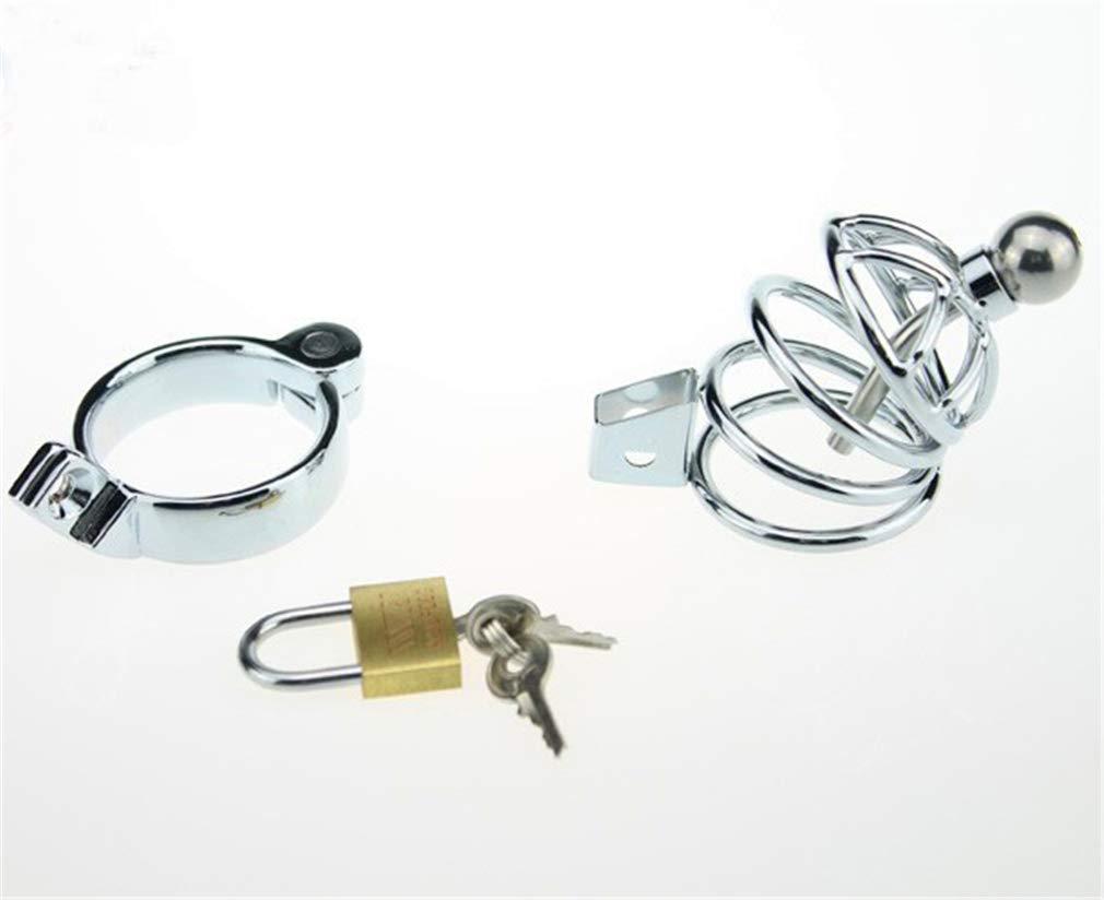 LCWORD LCWORD LCWORD Pene Anillo Pene Jaula Pene Juguetes Sexuales para Hombres, Metal Cock Cage Cinturón De Castidad Masculina Dispositivo De Castidad Lencería,45MM 5b46ac
