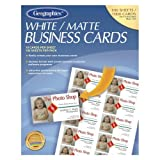Wholesale CASE of 10 - Geographics Royal Brites Business Cards-Business Cards,Laser/Inkjet,3-1/2''x2'',1000/PK,Matte,White