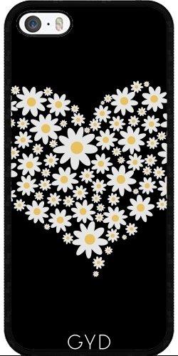 Coque pour Iphone SE - C?ur De Fleurs Blanches by ilovecotton
