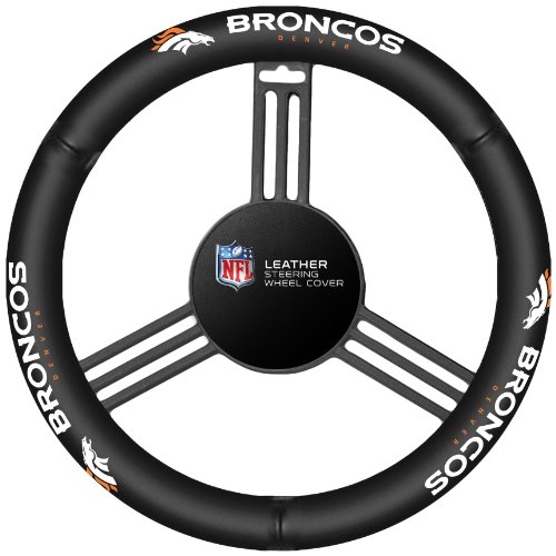 NFL Denver Broncos Leather Steering Wheel - Shops Denver