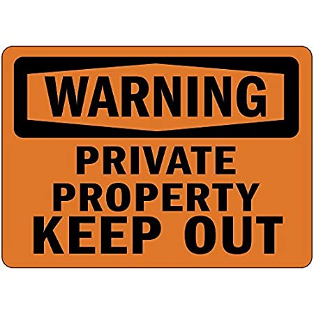 ymot101 Advertencia de Propiedad privada Mantener Fuera OSHA ...