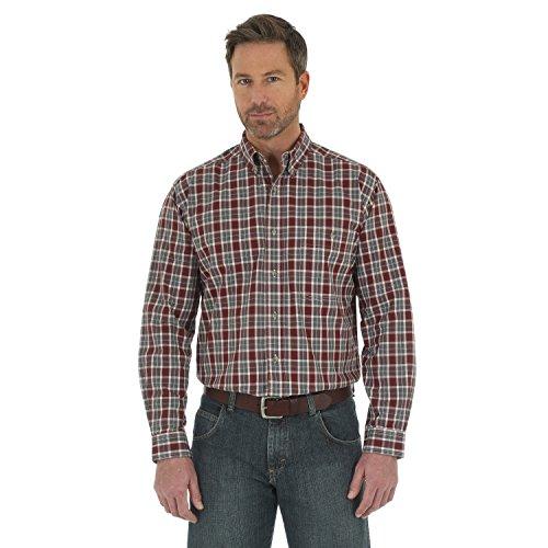 Wrangler Men's Shirt (Red/Blue) - 8