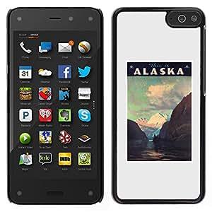 Amazon Fire Phone Único Patrón Plástico Duro Fundas Cover Cubre Hard Case Cover - Mountains Winter Usa State