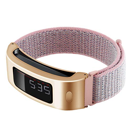 C2D JOY Only Compatible with Garmin Vivofit and Vivofit 2 Metal Case with Replacement Band, Sport Mesh Strap for Sports & Daily Wear Nylon Weave Accessory Fitness Watchband - 12#, S/4.8-6.8 in.