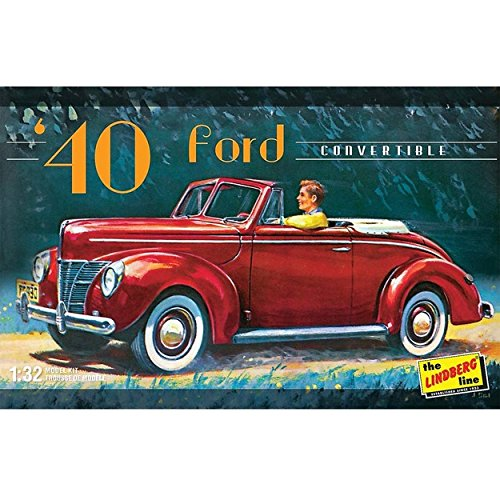 (Lindberg Models 1:32 Scale 1940 Ford Convertible Model Kit)