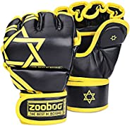 Flexzion Half Finger Boxing Gloves - Grappling MMA Muay Thai UFC Sparring Punch Ultimate Mitts Sanda Fighting