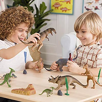 Terra by Battat – Prehistoric World – Assorted Miniature Dinosaur Toys & Accessories for Kids 3+ (60 Pc): Toys & Games