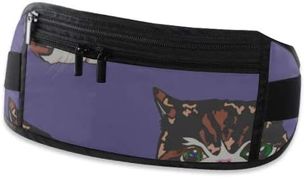 Cats Pattern Running Lumbar Pack For Travel Outdoor Sports Walking Travel Waist Pack,travel Pocket With Adjustable Belt