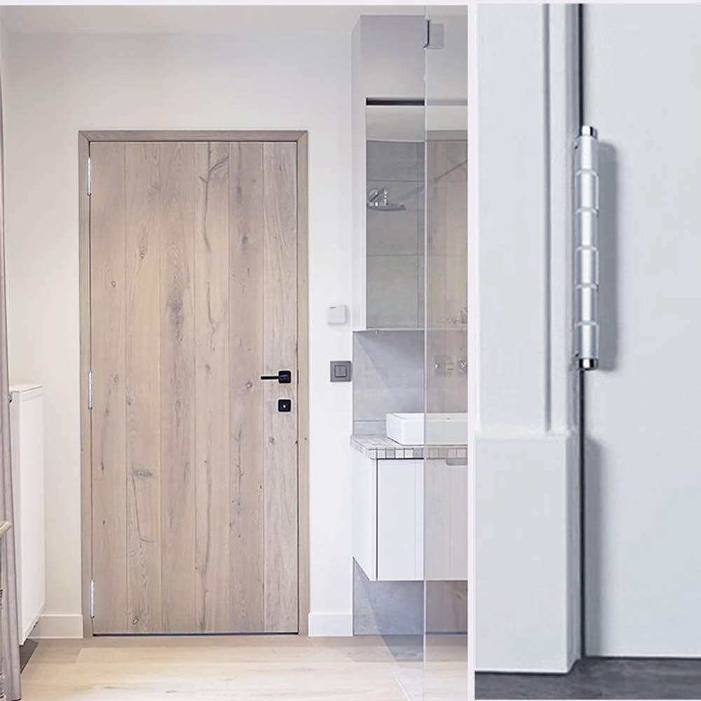 Bisagras, Plegables de aleación de aluminio Bisagras Para Puertas, 8 Orificios de montaje Regulación de fuerza de 3 etapas Bisagra giratoria para el mueble hogar Gabinete puerta armario 2 Pcs,Silver: Amazon.es: Deportes