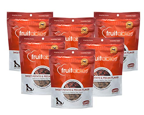 Fruitables 7 Ounce Crunchy Sweet Potato and Pecan Biscuit Training Treat for Dogs 6 - Pie Pecan Recipe Best