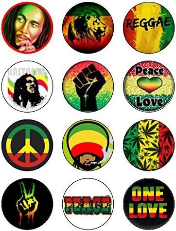 Prime 12 X 2 1 Inch Reggae Rasta Bob Marley Edible Icing Birthday Cake Funny Birthday Cards Online Elaedamsfinfo