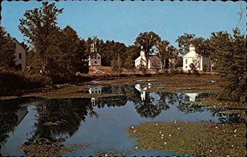 A classic small village behind a mill pond Marlow, New Hampshire Original Vintage Postcard