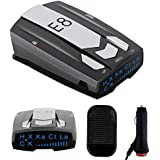 $27 » Radar Detector E8, Car Speed Laser Radar Detector with LED Display Voice Alert and Alarm System Radar Detector Kit with 360 Degree Detection