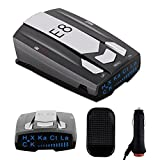AHOMATE Radar Detector E8, Car Speed Laser Radar Detector with LED Display Voice Alert and Alarm System Radar Detector Kit with 360 Degree Detection FCC Certificate