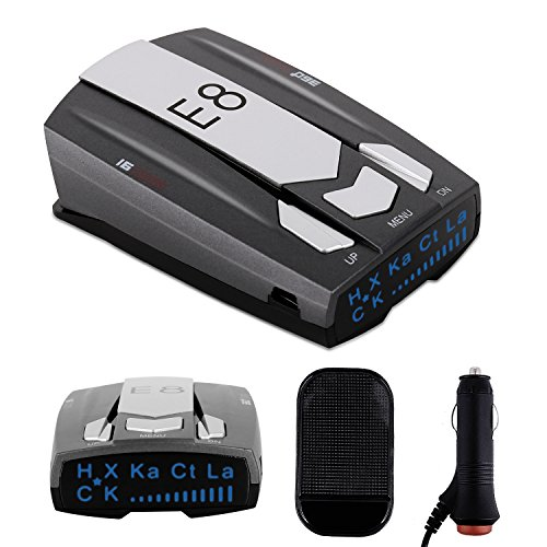 Radar Detector Car Speed Laser Radar Detector with LED display, Voice Alert and Alarm System Radar Detector Kit with 360 Degree Detection