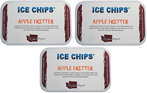 ICE CHIPS Xylitol Candy Tins (Apple Fritter, 3 Pack) by ICE CHIPS