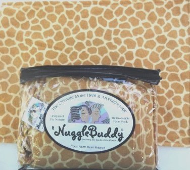 'NUGGLEBUDDY NEW! Microwavable Moist Heat & Aromatherapy Organic Rice Pack. Cozy Flannel Giraffe Fabric with SWEET LAVENDER Aromatherapy! The Perfect Gift Idea! USPS Priority Express Shipping Available!