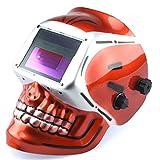 Te echo de menos Welding Helmet Red Skull Auto Darkening Mig Tig Arc Welder Protective Mask
