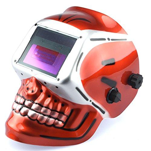 Te echo de menos Welding Helmet Red Skull Auto Darkening Mig Tig Arc Welder Protective Mask from Te echo de menos