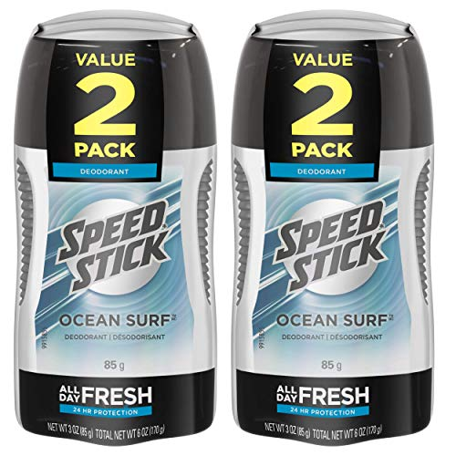 Speed Stick Deodorant for Men, Ocean Surf - 3 Ounce (4 Pack) (Speed Stick Deodorant Ocean Surf)