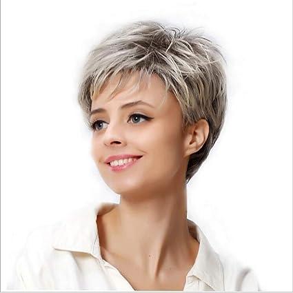 spedizione gratuita prezzo ragionevole presa all'ingrosso Parrucca femminile breve capelli ricci soffici capelli ...