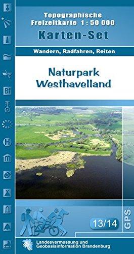 Set Naturpark Westhavelland: Topographische Freizeitkarte 1:50000 (Topographische Freizeitkarten 1:50000, Land Brandenburg / Für Wanderungen, Rad- und Bootsfahrten)