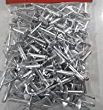 USA Premium Store RIVETS LARGE FLANGE 100 PC. 3/16 X 3/4'' ALUMINUM HEAD STEEL MANDREL RIVET