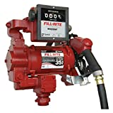 Fill-Rite FR311VB 115/230V Super High Flow AC Pump, 1''x18' Hose, 1'' Automatic Hi Flow  Nozzle, Diesel Only, 901 Meter (Up to 30 GPM)