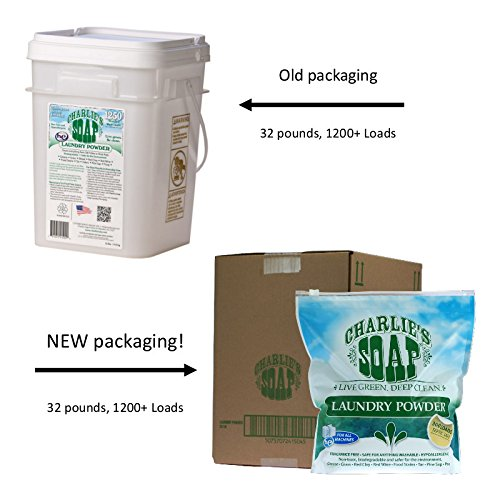 Charlie's Soap - Fragrance Free Laundry Powder - 300 Loads (4 Pack) - 1200 Total Loads by Charlie's Soap