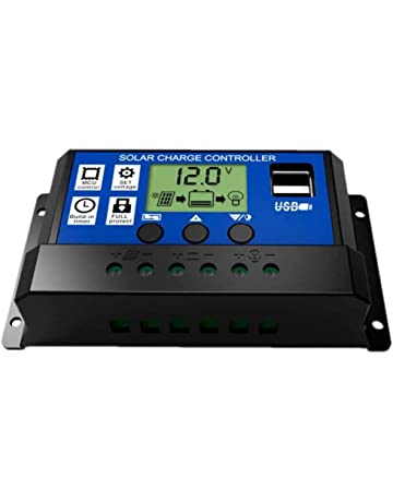 JZK 20A 12V / 24V Panel solar inteligente controlador de carga con pantalla LCD y puerto