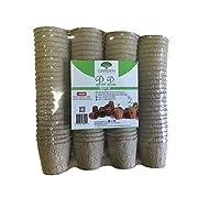 3 Inch Peat Pots Pack of 100 by Garden Monks -for Plant Starters, Seedlings,Saplings, Flowers,Vegetables-Eco Friendly & Biodegradable -Prevent Transplant Shock -Garden,Backyard,Kitchen Seed Planting