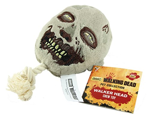 Lootcrate Exclusive AMC The Walking Dead Pet Collection Walker Head Squeak Chew Dog Toy