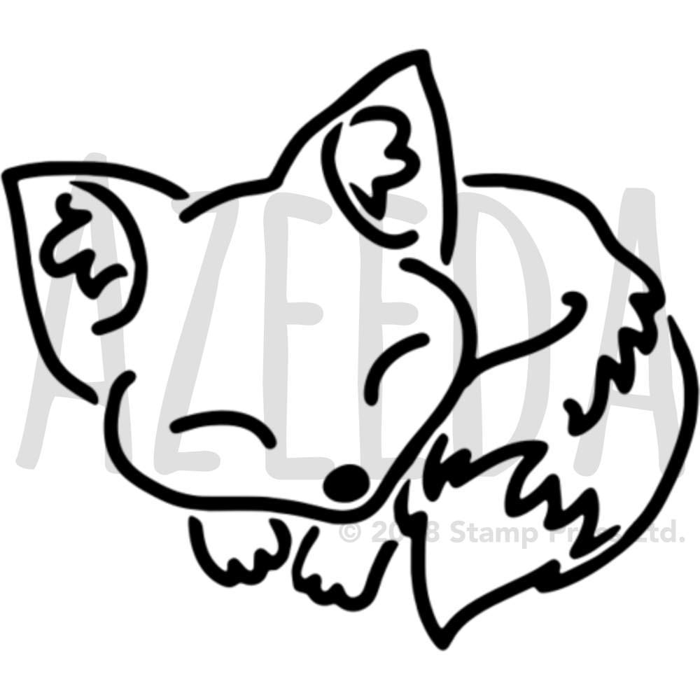 A5 'Sleeping Fox' ウォールステンシル/テンプレート (WS00029600) B078JJ19HT