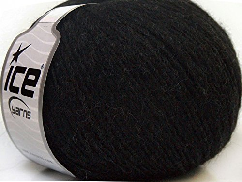 Peru Alpaca Light DK Yarn - Anthracite Merino Wool Alpaca Acrylic Blend 50 Gram 191 Yards