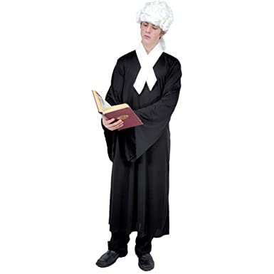 a13af29e2a054 Amazon.com: Adult Colonial Lawyer Halloween Costume (Size: X-Large 44-46):  Clothing