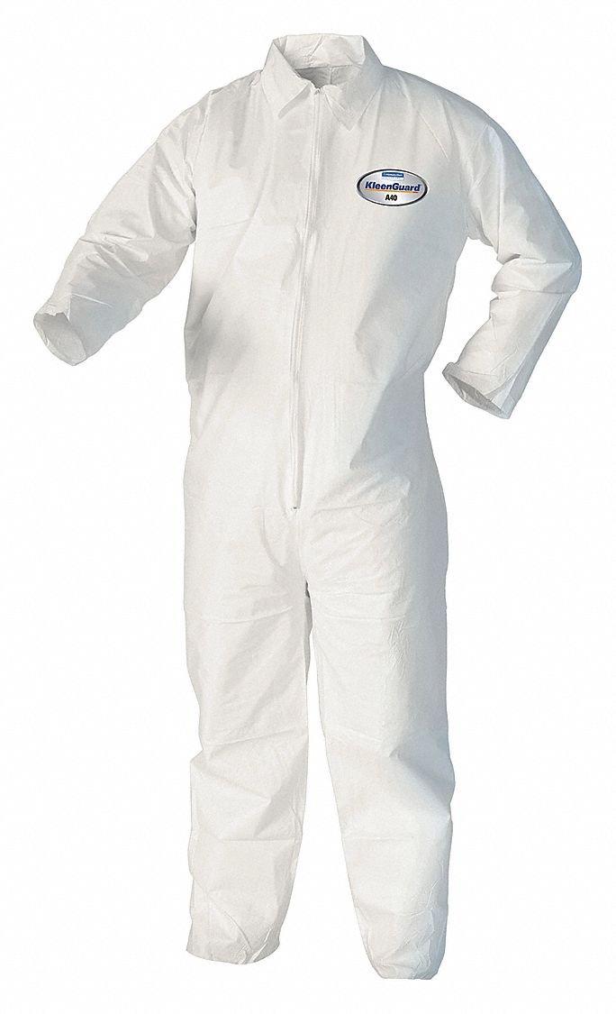 Zipper 6XL White Disposable Coverall