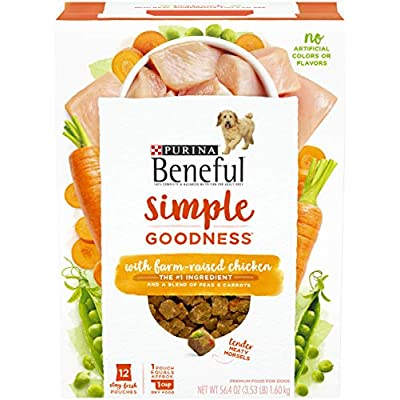 Purina Beneful Dry Dog Food, Simple Goodness With Farm Raised Chicken - (4) 12 ct. Boxes