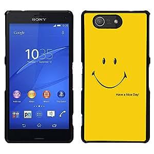 LECELL--Funda protectora / Cubierta / Piel For Sony Xperia Z3 Compact -- Que tengas un buen día --