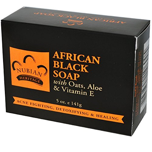 Price comparison product image Nubian Heritage African Soap with Shea Butter Oats and Aloe Deep Cleansing, 5 oz., Black (pack of 3)