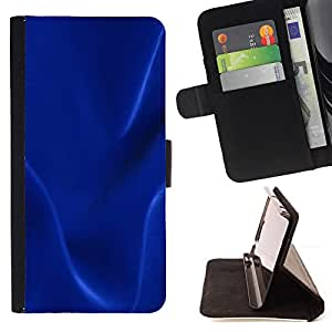 DEVIL CASE - FOR Samsung Galaxy S4 Mini i9190 - Dark blue texture - Style PU Leather Case Wallet Flip Stand Flap Closure Cover