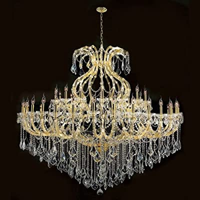 Worldwide Lighting W83001G72 Maria Theresa 49 Light with Clear Crystal Chandelier, Gold Finish