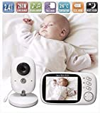 Lullaby Bay Video Baby Monitor with Camera. Anti-Hack Encryption. Wireless Digital 3.2 inch LCD Screen. Night Vision. Temperature Sensor. 2-Way Talk. Long Range. 8 Lullabies. Sound Activation.